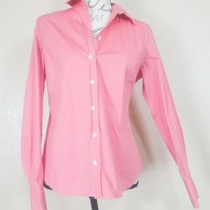J. Crew Pink Long Sleeve Button Down Size Medium